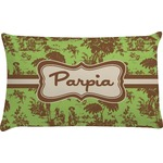 Green & Brown Toile Pillow Case (Personalized)