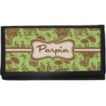 Green & Brown Toile Canvas Checkbook Cover (Personalized)