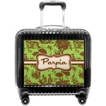 Green & Brown Toile Pilot / Flight Suitcase (Personalized)