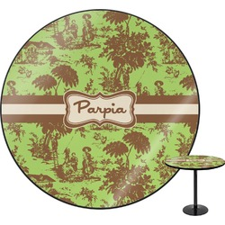 Green & Brown Toile Round Table (Personalized)