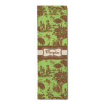 Green & Brown Toile Runner Rug - 3.66'x8' (Personalized)