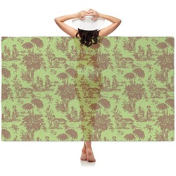 Green & Brown Toile Sheer Sarong (Personalized)