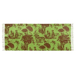 Green & Brown Toile Faux Pashmina Scarf (Personalized)