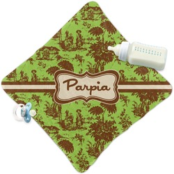 Green & Brown Toile Security Blanket (Personalized)