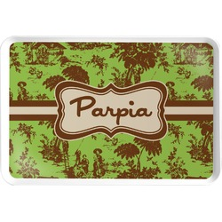 Green & Brown Toile Serving Tray (Personalized)