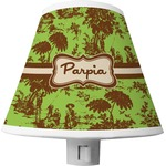 Green & Brown Toile Shade Night Light (Personalized)