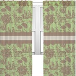 Green & Brown Toile Sheer Curtains (Personalized)