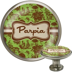 Green & Brown Toile Cabinet Knobs (Personalized)