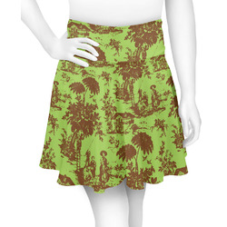 Green & Brown Toile Skater Skirt (Personalized)