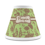 Green & Brown Toile Chandelier Lamp Shade (Personalized)