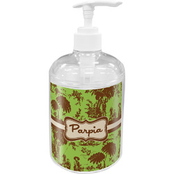 Green & Brown Toile Soap / Lotion Dispenser (Personalized)