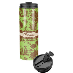 Green & Brown Toile Stainless Steel Tumbler (Personalized)