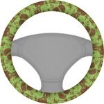 Green & Brown Toile Steering Wheel Cover (Personalized)