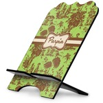 Green & Brown Toile Stylized Tablet Stand (Personalized)