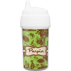 Green & Brown Toile Sippy Cup (Personalized)