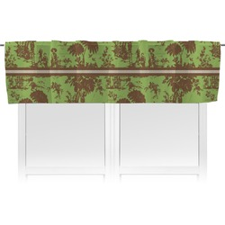Green & Brown Toile Valance (Personalized)
