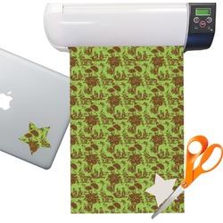 Green & Brown Toile Sticker Vinyl Sheet (Permanent)