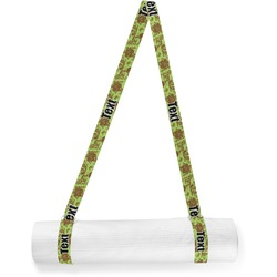 Green & Brown Toile Yoga Mat Strap (Personalized)