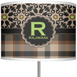 """Moroccan Mosaic & Plaid 13"""" Drum Lamp Shade Polyester (Personalized)"""