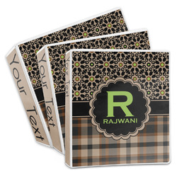 Moroccan Mosaic & Plaid 3-Ring Binder (Personalized)