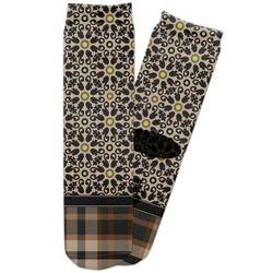 Moroccan Mosaic & Plaid Adult Crew Socks (Personalized)