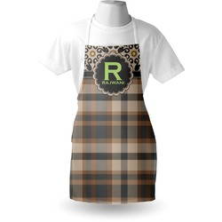 Moroccan Mosaic & Plaid Apron (Personalized)