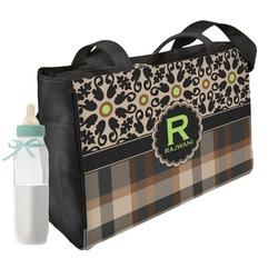 Moroccan Mosaic & Plaid Diaper Bag (Personalized)