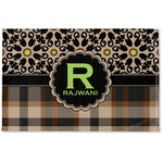 Moroccan Mosaic & Plaid Woven Mat (Personalized)