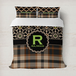 Moroccan Mosaic & Plaid Duvet Cover (Personalized)
