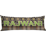 Moroccan Mosaic & Plaid Body Pillow Case (Personalized)