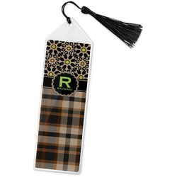 Moroccan Mosaic & Plaid Book Mark w/Tassel (Personalized)