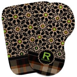 Moroccan Mosaic & Plaid Burp Cloth (Personalized)