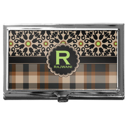 Moroccan Mosaic & Plaid Business Card Holder