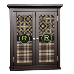 Moroccan Mosaic & Plaid Cabinet Decal - Small (Personalized)