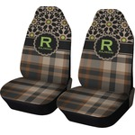 Moroccan Mosaic & Plaid Car Seat Covers (Set of Two) (Personalized)