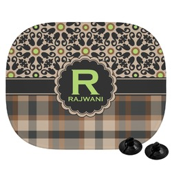 Moroccan Mosaic & Plaid Car Side Window Sun Shade (Personalized)