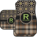 Moroccan Mosaic & Plaid Car Floor Mats (Personalized)