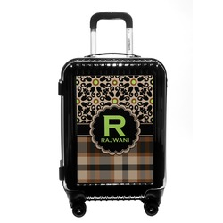 Moroccan Mosaic & Plaid Carry On Hard Shell Suitcase (Personalized)