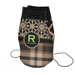 Moroccan Mosaic & Plaid Neoprene Drawstring Backpack (Personalized)