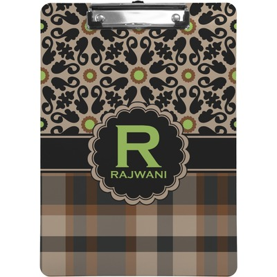 Moroccan Mosaic & Plaid Clipboard (Personalized)