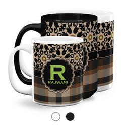 Moroccan Mosaic & Plaid Coffee Mugs (Personalized)