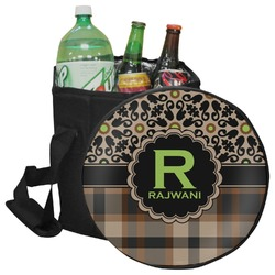 Moroccan Mosaic & Plaid Collapsible Cooler & Seat (Personalized)