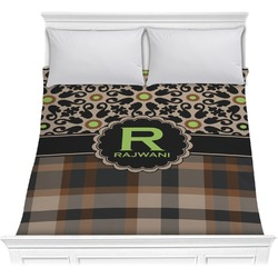 Moroccan Mosaic & Plaid Comforter (Personalized)