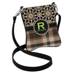 Moroccan Mosaic & Plaid Cross Body Bag - 2 Sizes (Personalized)