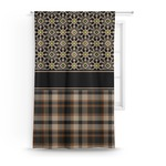Moroccan Mosaic & Plaid Curtain (Personalized)