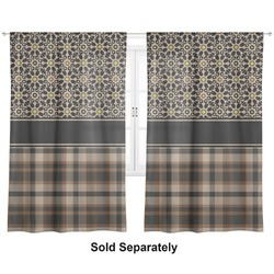 "Moroccan Mosaic & Plaid Curtains - 20""x63"" Panels - Lined (2 Panels Per Set) (Personalized)"