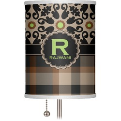 """Moroccan Mosaic & Plaid 7"""" Drum Lamp Shade (Personalized)"""