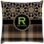 Moroccan Mosaic & Plaid Decorative Pillow Case (Personalized)