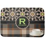 Moroccan Mosaic & Plaid Dish Drying Mat (Personalized)