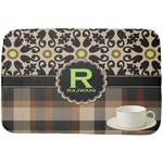 Moroccan Mosaic & Plaid Dish Drying Mat (Personalized)